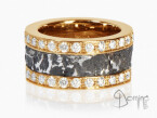 Ferro prezioso ring with diamonds Red gold 18 kt
