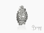 Long Frammenti ring White gold 18 kt