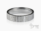 Vertical Work ring with diamonds White gold 18 kt