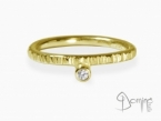 Diamond Linee ring Yellow gold 18 kt