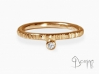 Diamond Linee ring Red gold 18 kt