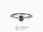 Black diamond ring White gold 18 kt