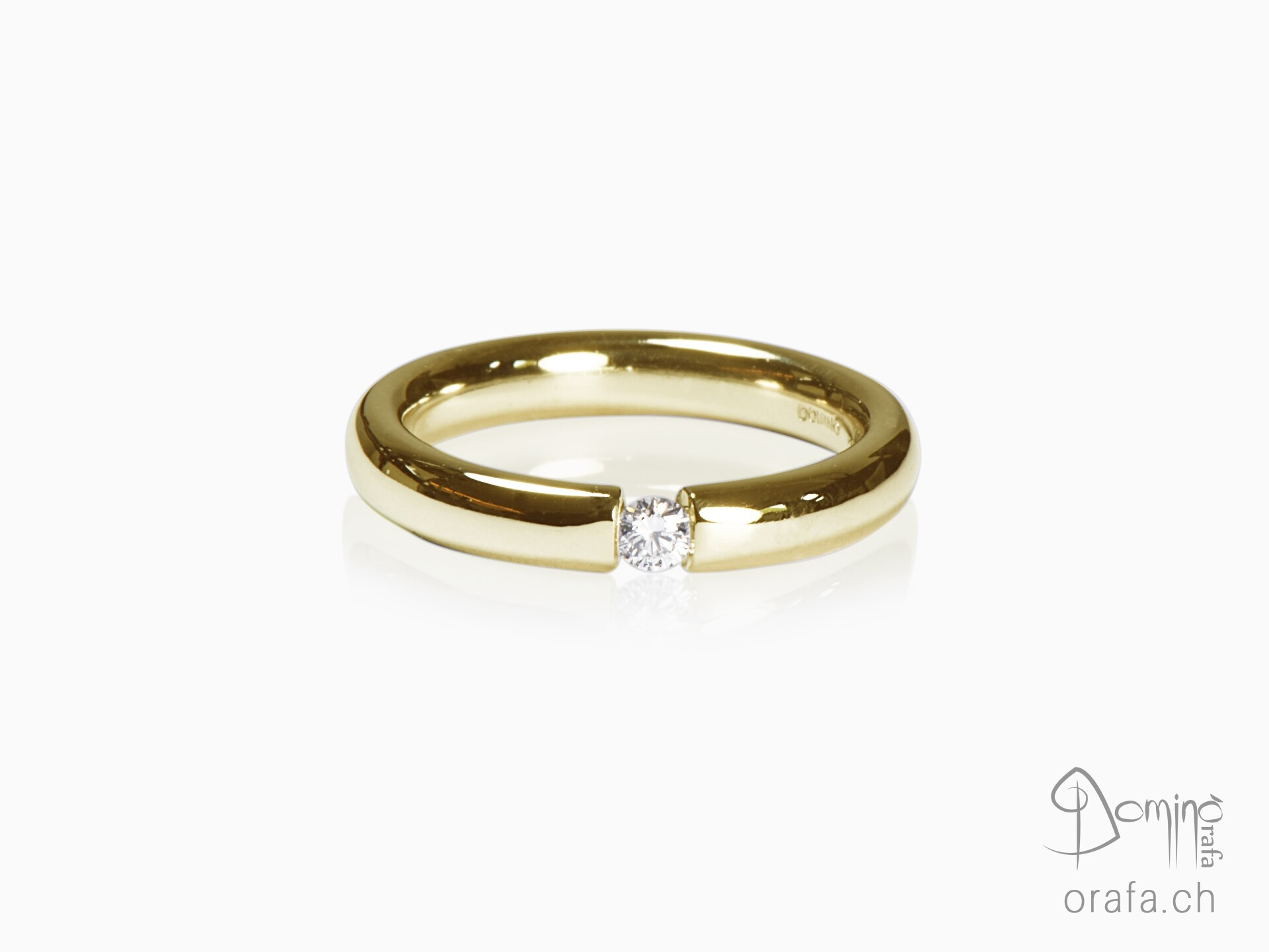 anello-lucido-diamante-0,1ct-oro-giallo
