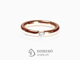 anello-lucido-diamante-0,1ct-oro-rosso