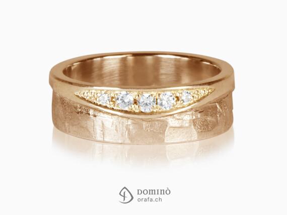 anello-lucido-sentiero-onda-diamanti-oro-rosso