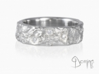 Oceano ring with diamonds White gold 18 kt