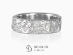 Oceano ring with diamonds White gold 18 kt