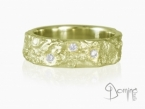 Oceano ring with diamonds Yellow gold 18 kt