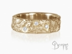 Oceano ring with diamonds Red gold 18 kt