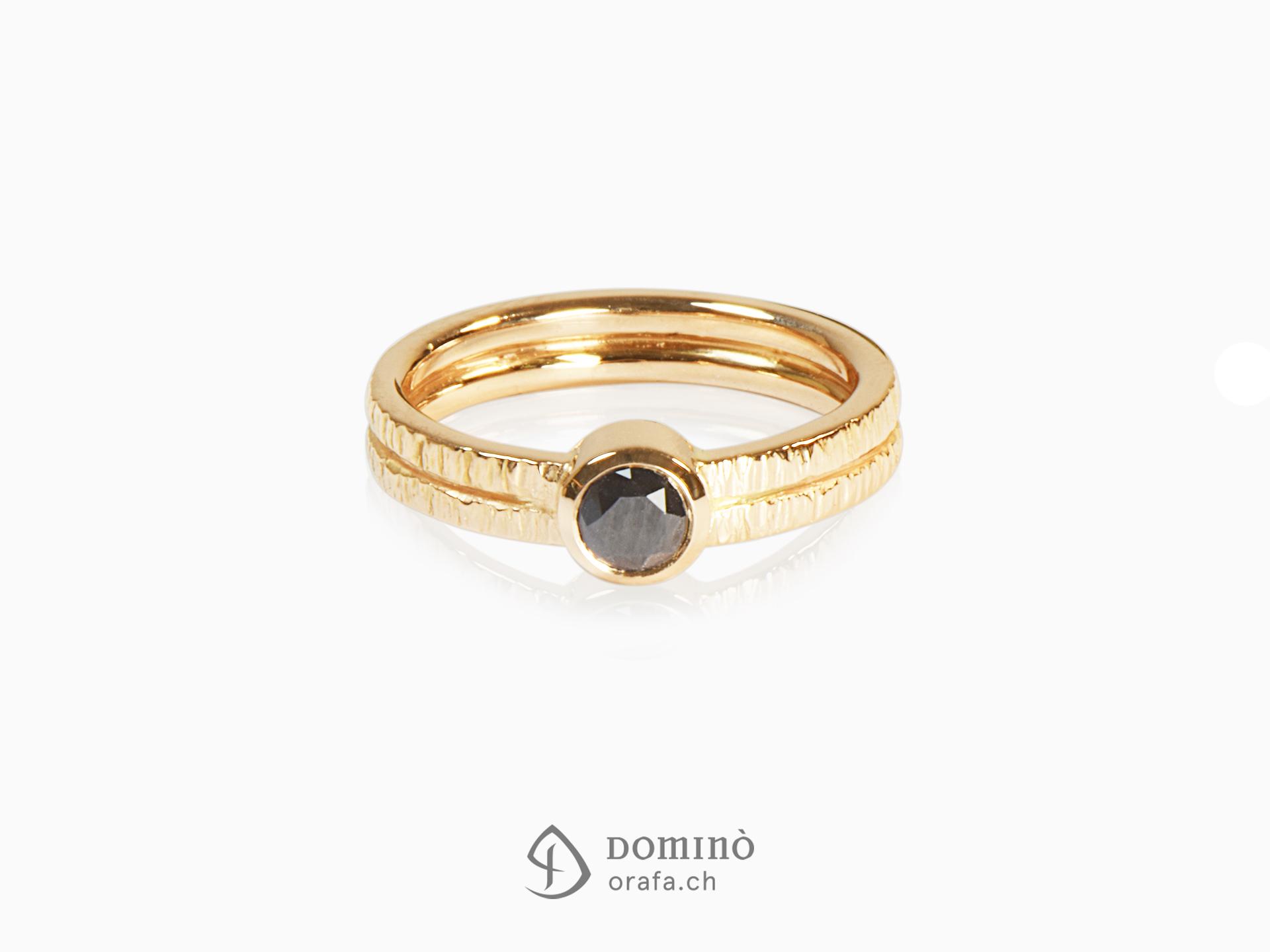 anello-oro-doppio-gambo-diamante-nero-oro-giallo