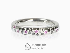 anello-pioggia-diamanti-neri-zaffiri-rosa-oro-bianco