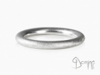 Sand round rings White gold 18 kt