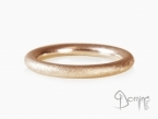 Sand round rings Red gold 18 kt