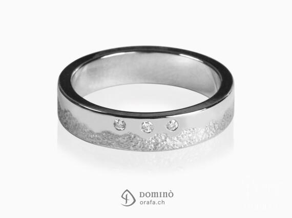 anello-sabbiato-lucido-irregolare-3-diamanti-oro-bianco