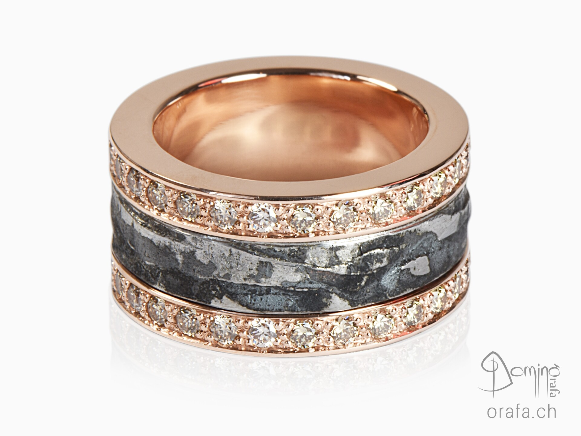 Ferro Prezioso ring and brown diamond