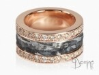 Ferro Prezioso ring and brown diamond Red gold 18 kt