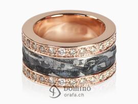 anello-sentiero-ferro-oro-rosso-diamanti-brown-doppio-oro-rosso