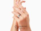 Sfaccettato ring with diamonds