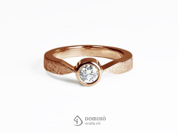 anello-solitario-diamante-0,23ct-oro-rosso