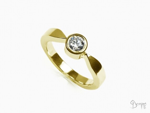 anello-solitario-lucido-diamante-0,23ct-oro-giallo