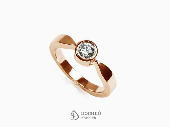 anello-solitario-lucido-diamante-0,23ct-oro-rosso
