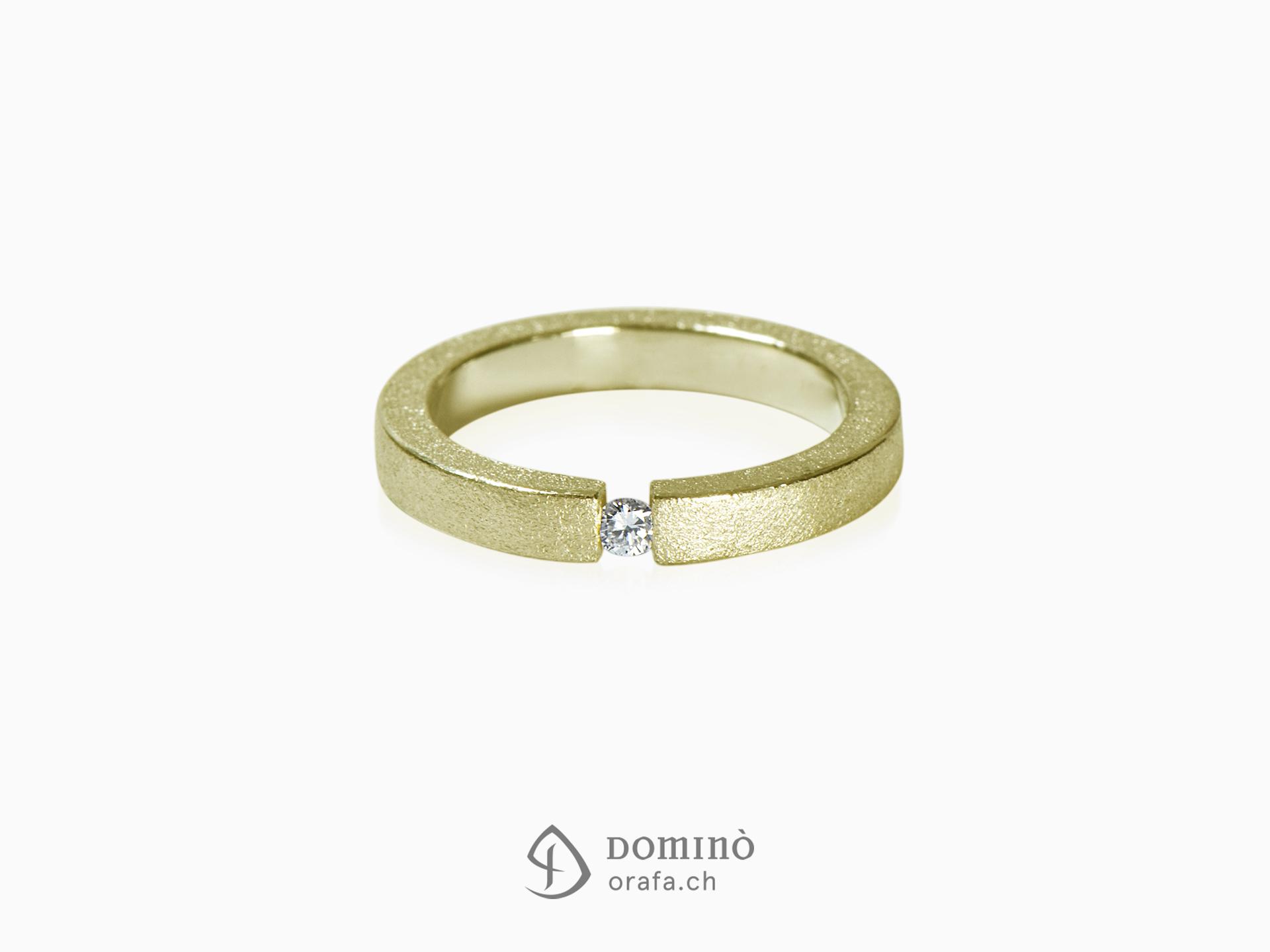 Sanded diamond ring