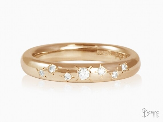 anello-stelle-7-diamanti-oro-rosso