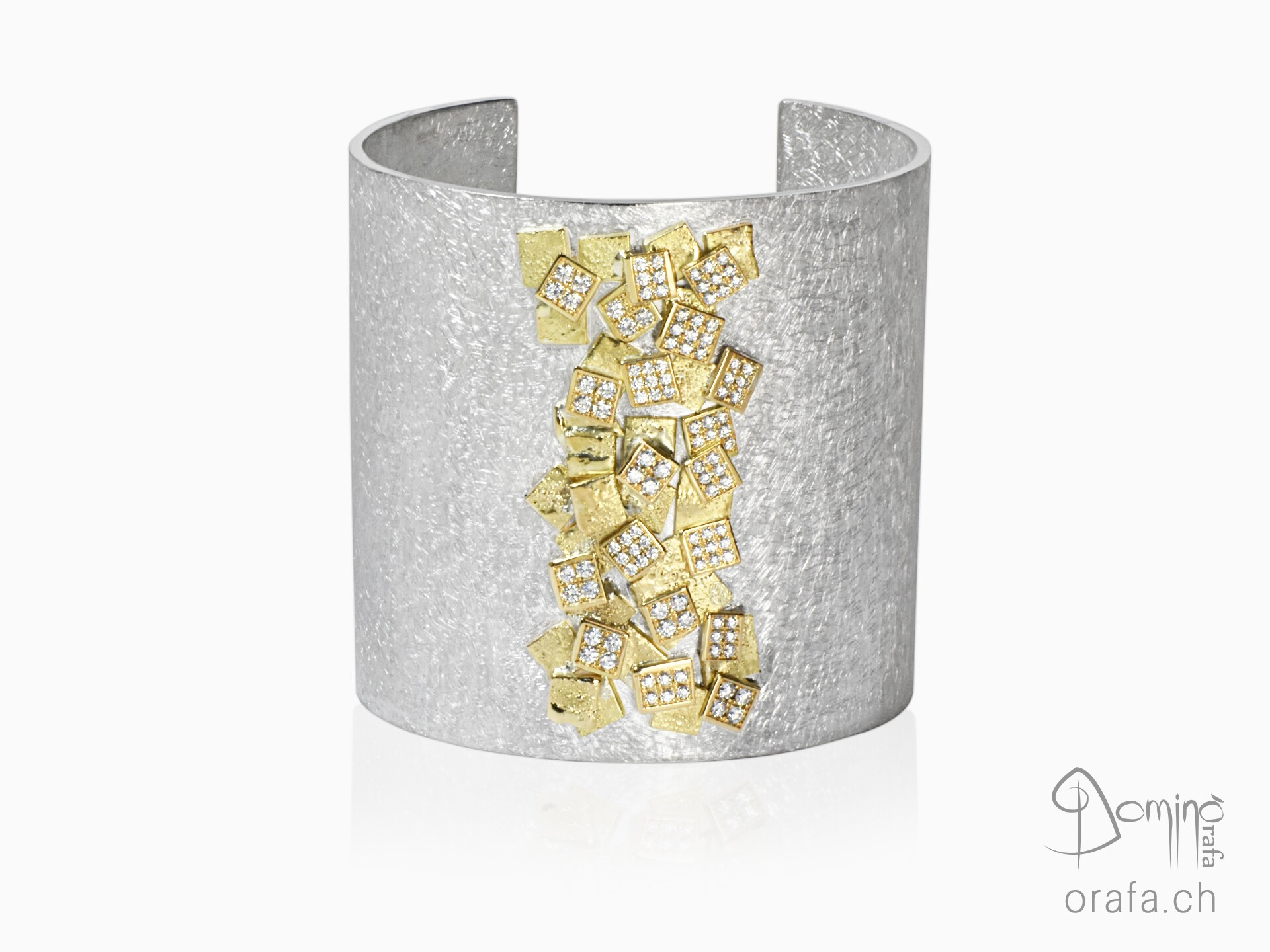 Big Frammenti diamonds bracelet