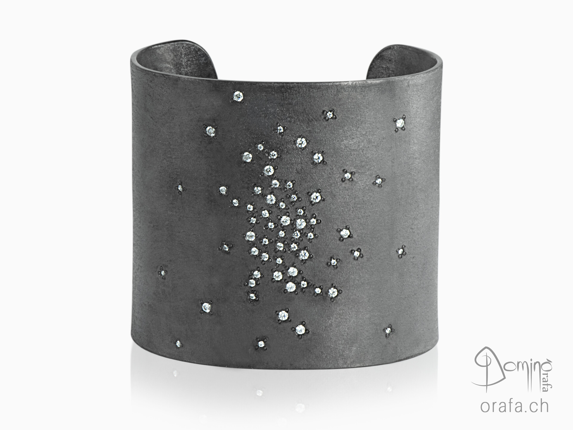 Big oxidized Rain diamonds bracelet