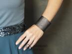 Big oxidized Rain diamonds bracelet