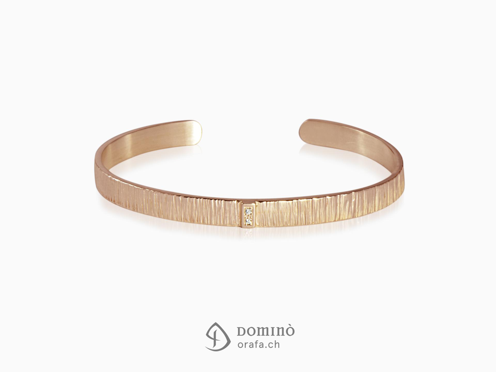 bracciale-rigido-linee-due-diamanti-pave-oro-rosso