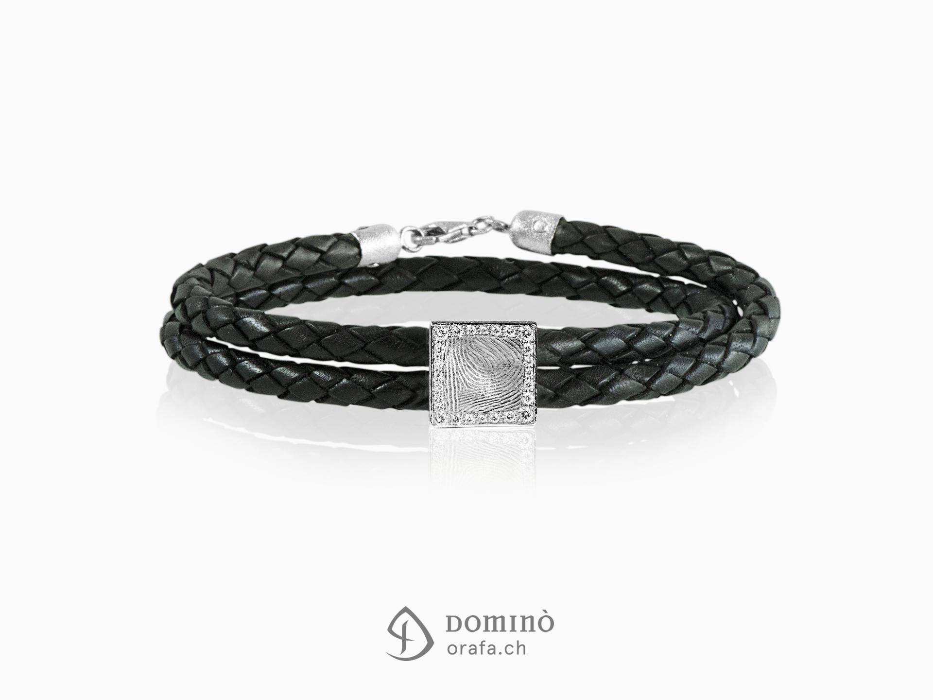 braccialetto-cuoio-impronta-digitale-quadrata-contorno-diamanti-oro-bianco