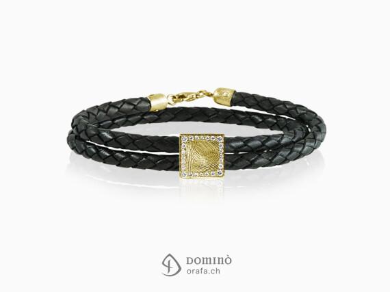 braccialetto-cuoio-impronta-digitale-quadrata-contorno-diamanti-oro-giallo