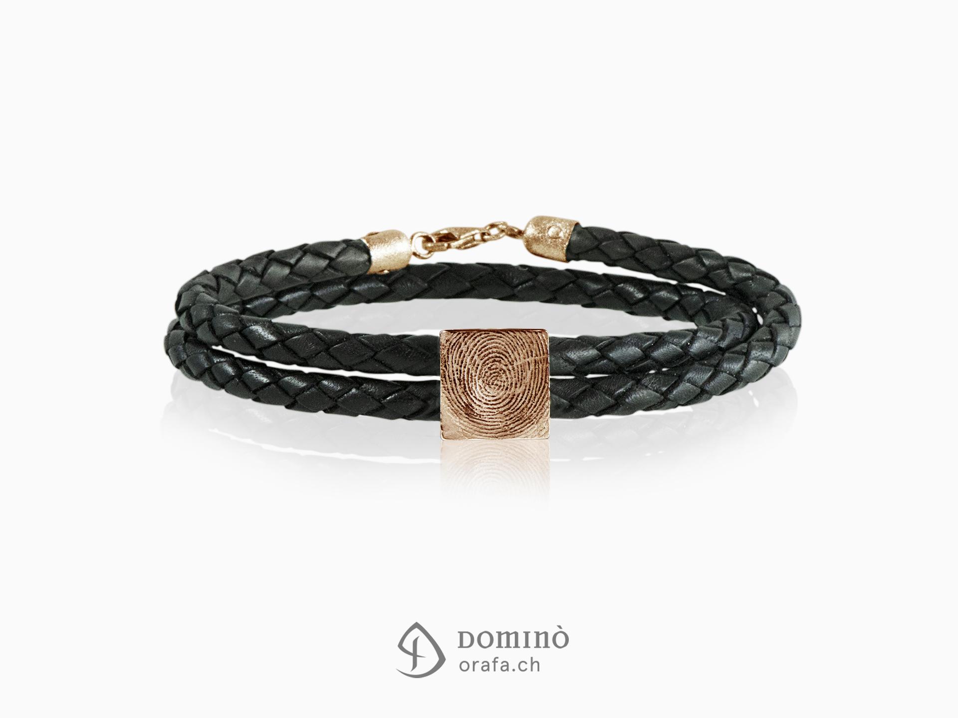 braccialetto-cuoio-impronta-digitale-quadrata-oro-rosso