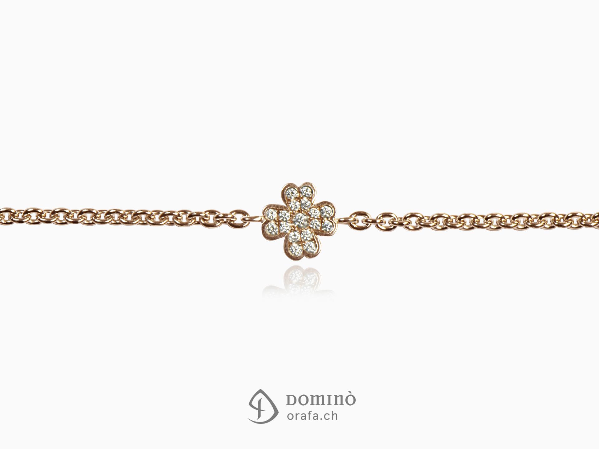 Four leaf clover bracelet with diamonds