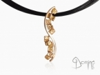 Frammenti/polished pendant Red gold 18 kt