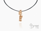 Long Frammenti pendant Red gold 18 kt