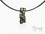 Silver and gold Frammenti pendant Silver and yellow gold 18 kt