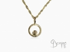 Cognac diamond and yellow gold pendant Yellow gold 18 kt