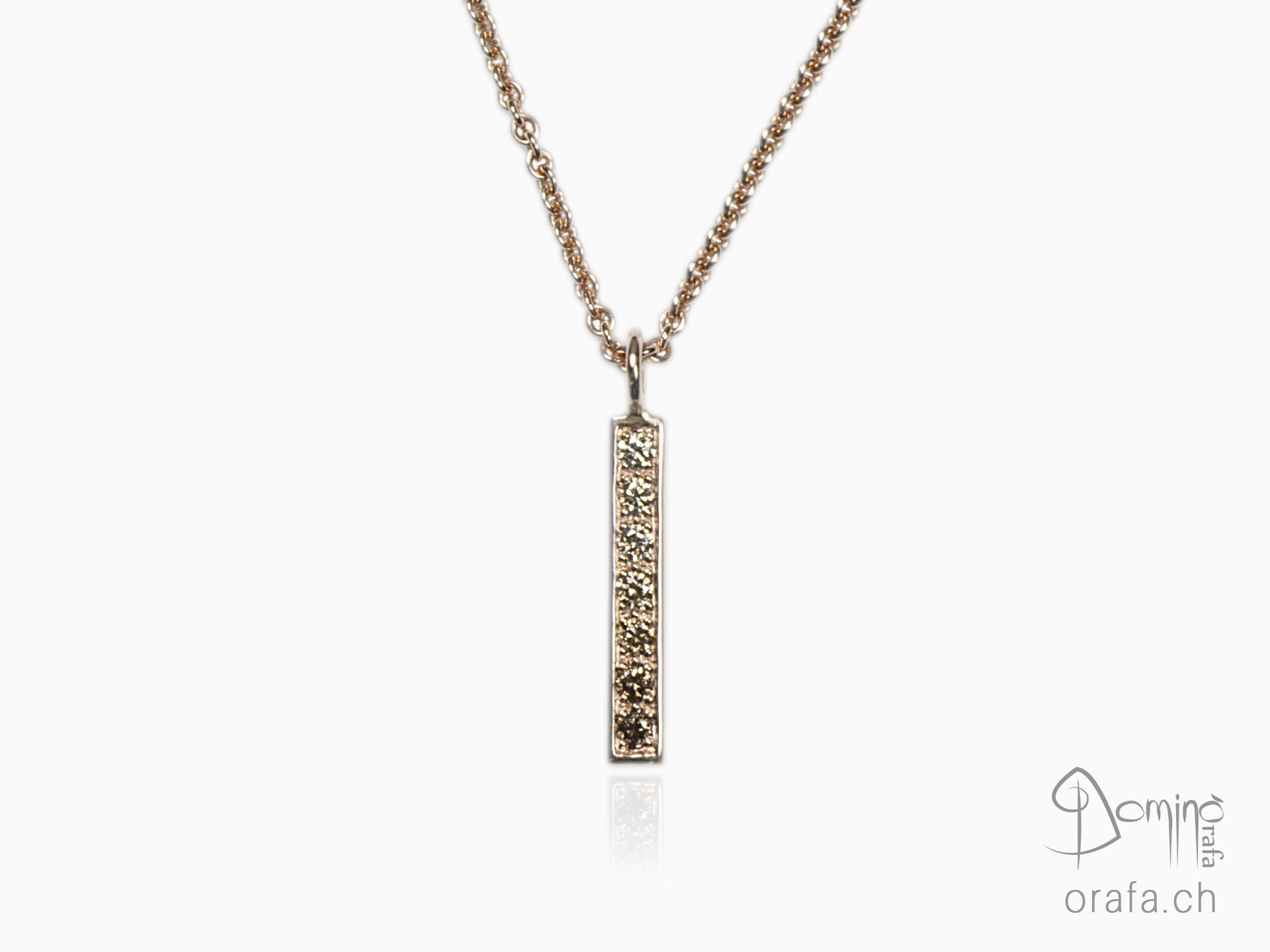 Small brown shade of diamonds pendant
