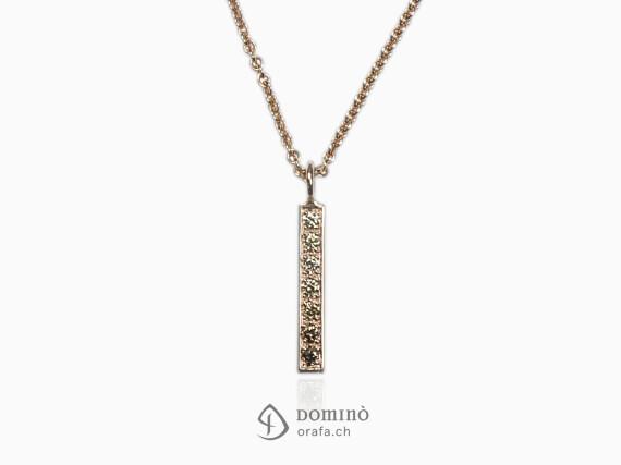 ciondolo-sfumatura-diamanti-brown-lineare-piccolo-oro-rosso