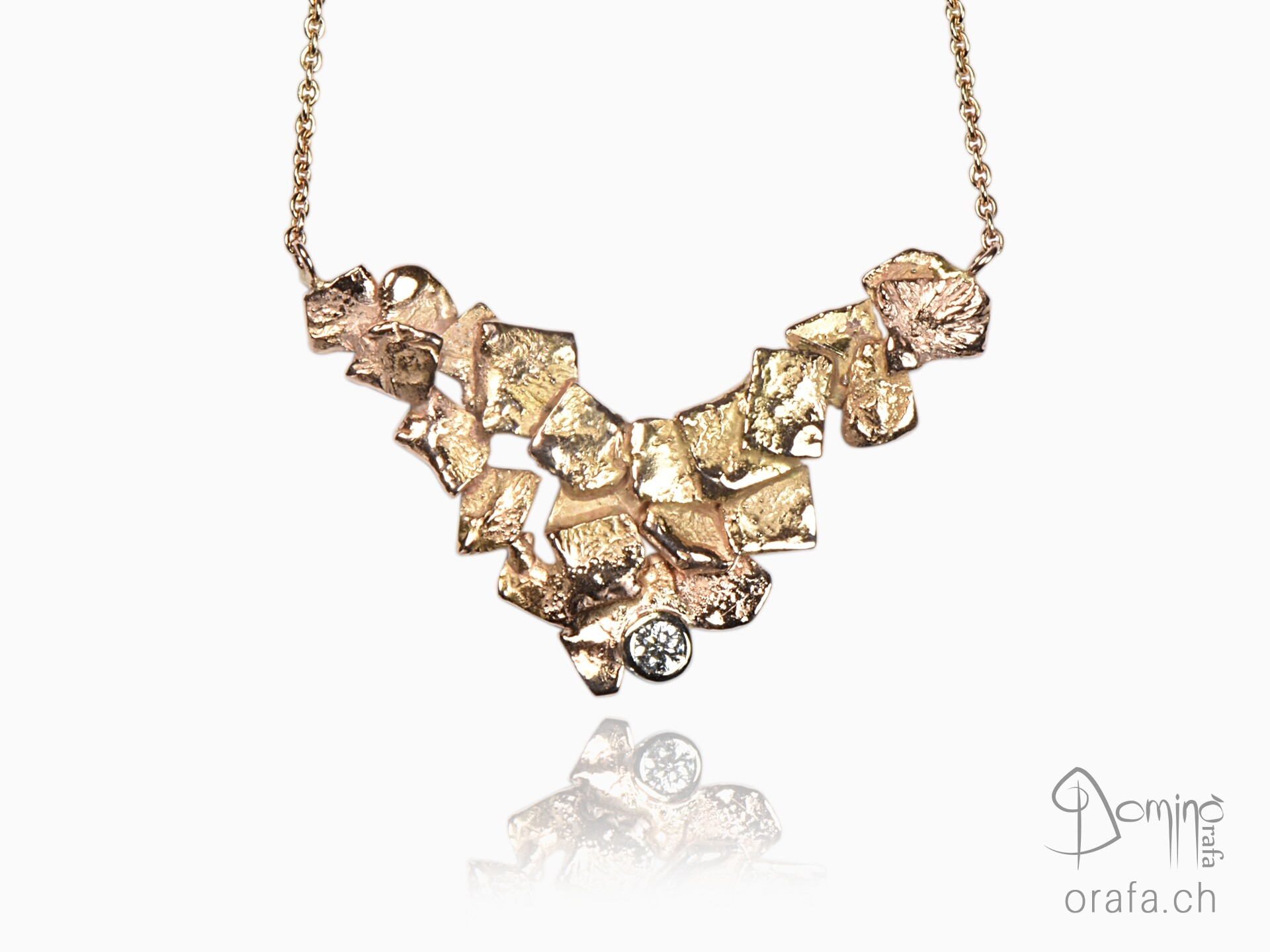 Frammenti necklace with diamond
