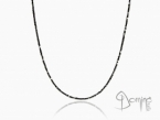 Black diamonds and gold necklace Yellow gold 18 kt