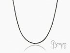 Black diamonds necklace White gold 18 kt