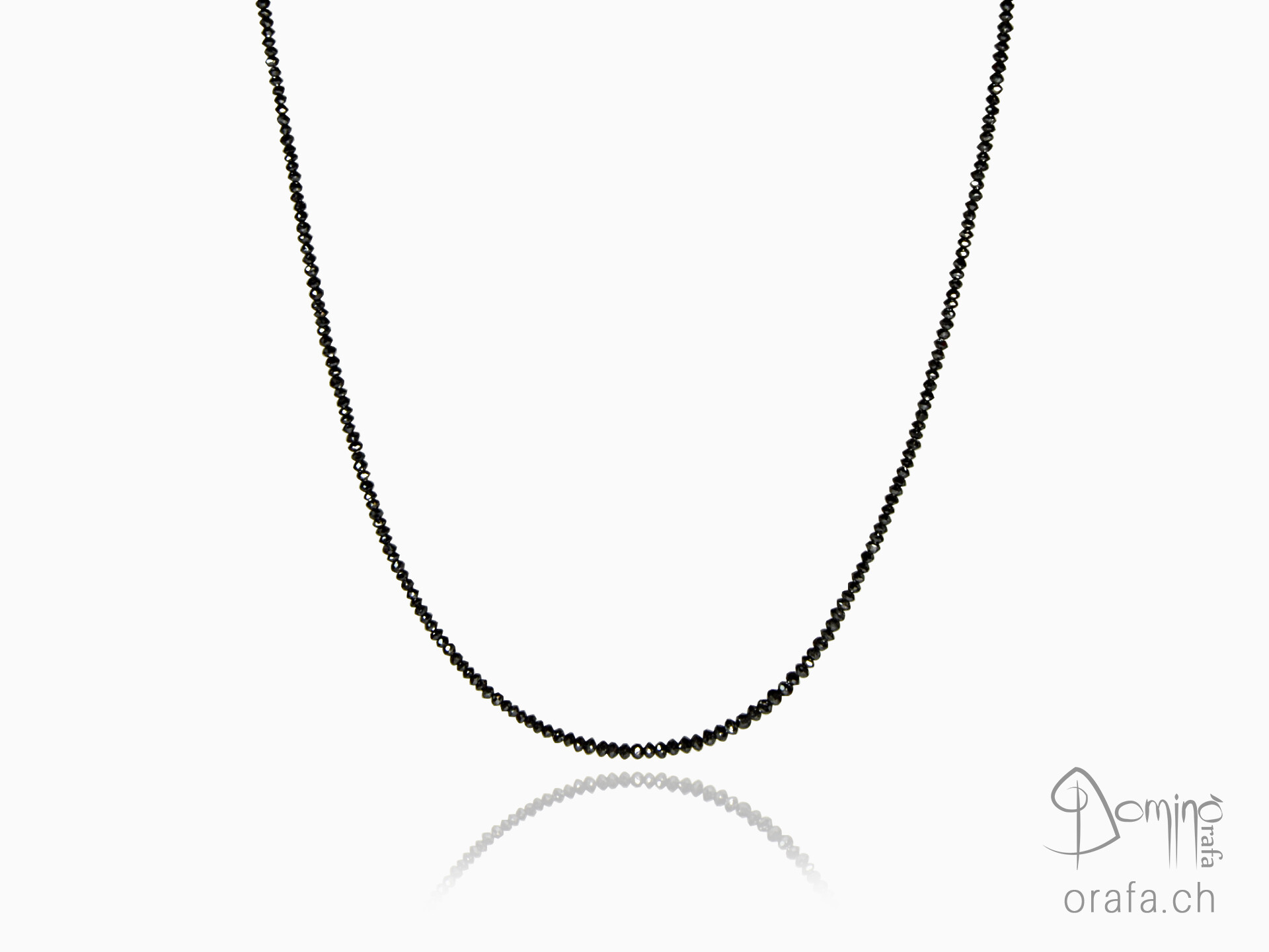 Black diamonds necklace