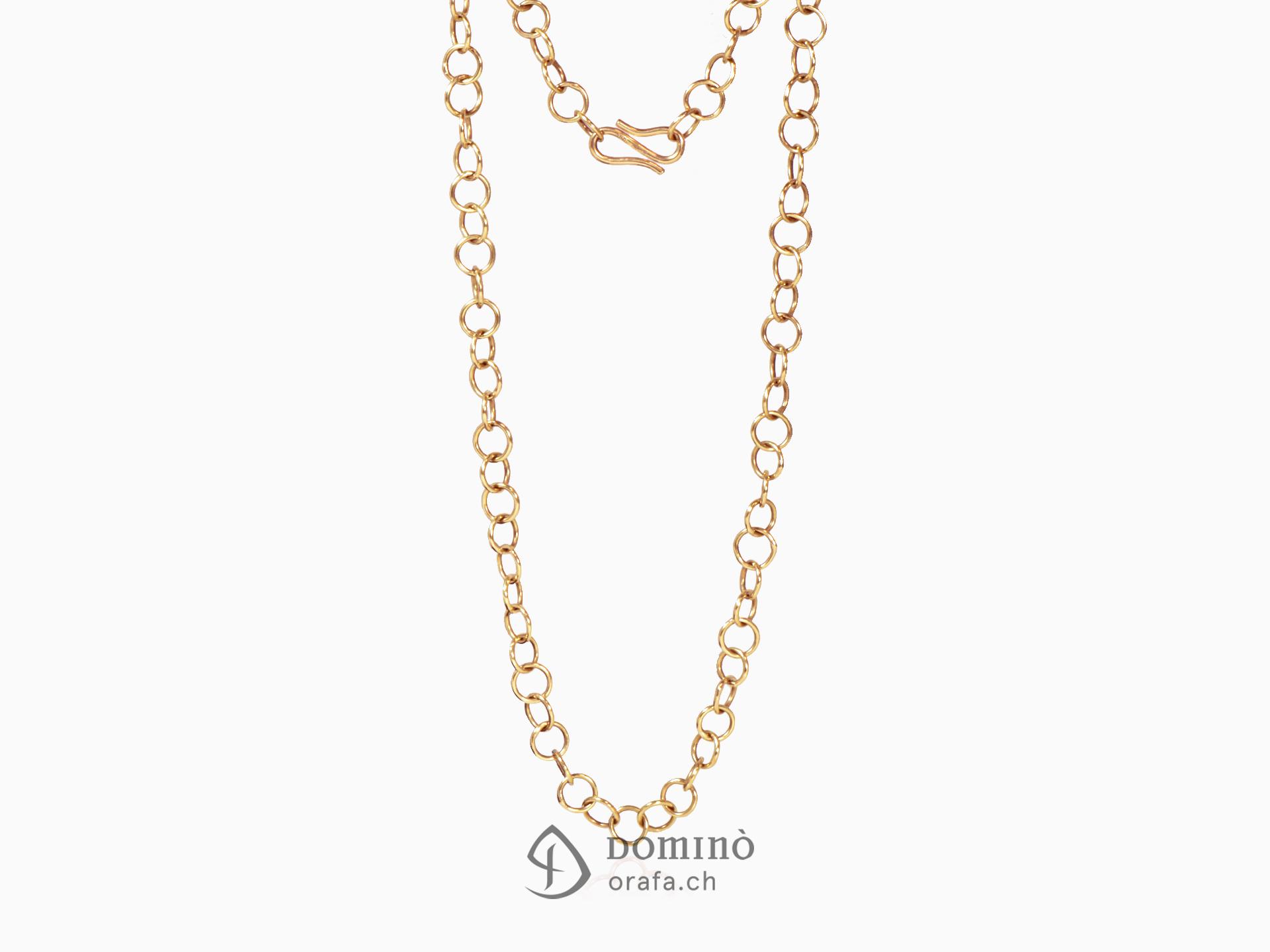 Long hoop link necklace