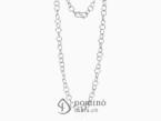 Long hoop link necklace White gold 18 kt