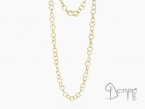 Long hoop link necklace Yellow gold 18 kt