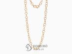Long hoop link necklace Red gold 18 kt