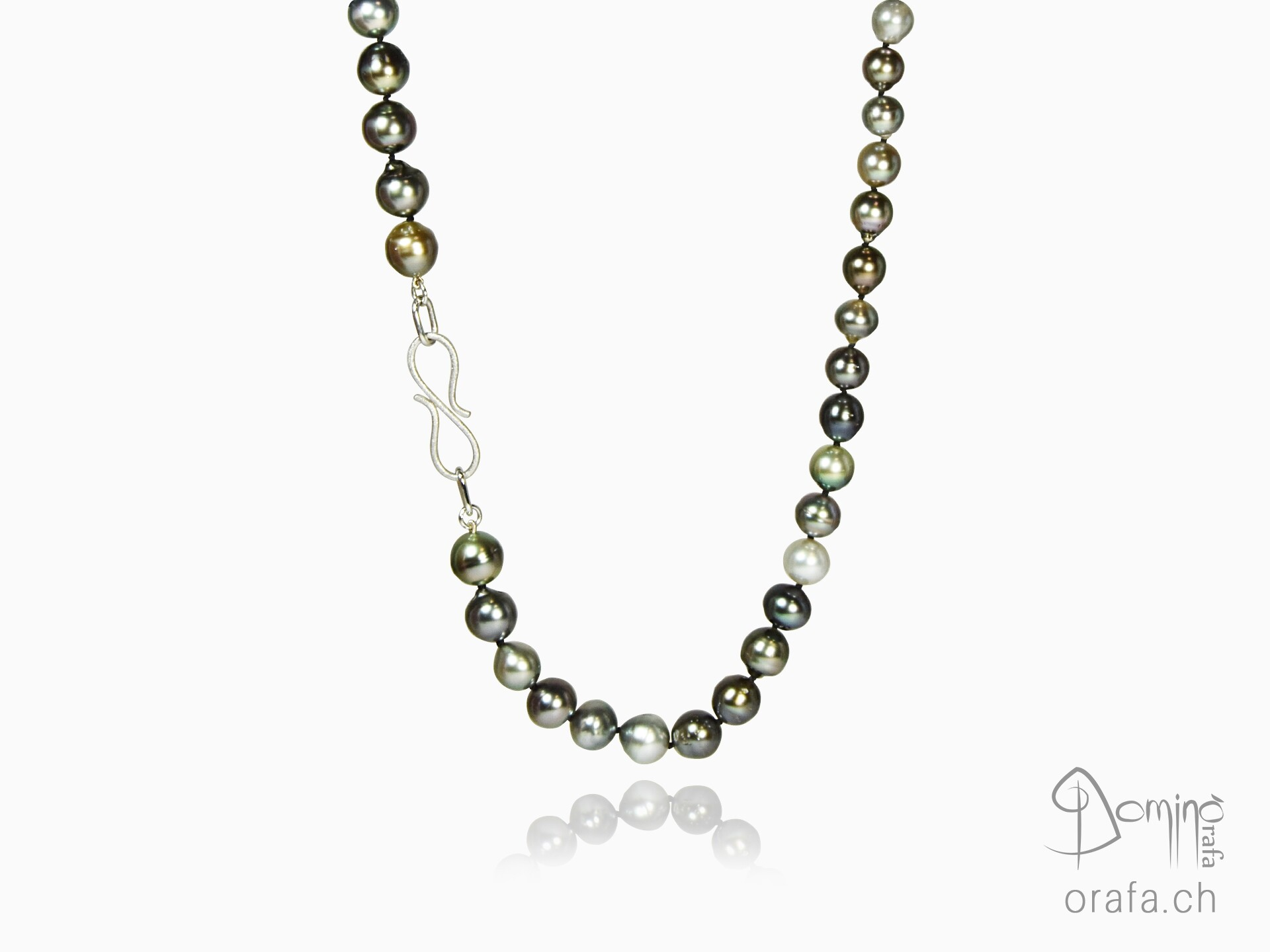 Multicolor tahitian pearls necklace